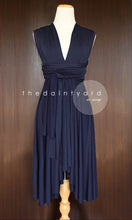 Load image into Gallery viewer, TDY Navy Short Infinity Dress