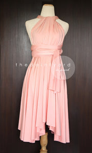 TDY Peach Short Infinity Dress