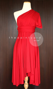 TDY Red Short Infinity Dress