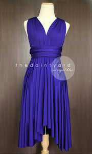 TDY Royal Blue Short Infinity Dress
