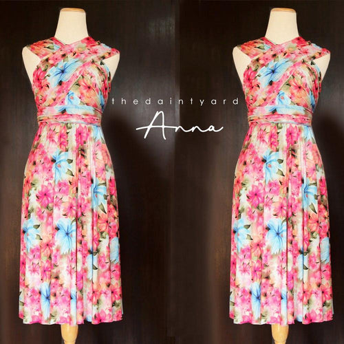 TDY Anna Floral Short Infinity Dress