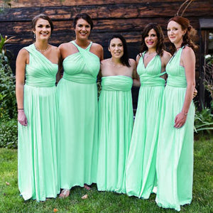 TDY Apple Green Maxi Infinity Dress