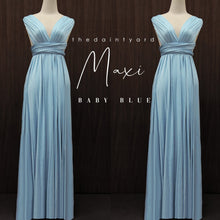 Load image into Gallery viewer, TDY Baby Blue Maxi Infinity Dress
