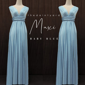 TDY Baby Blue Maxi Infinity Dress