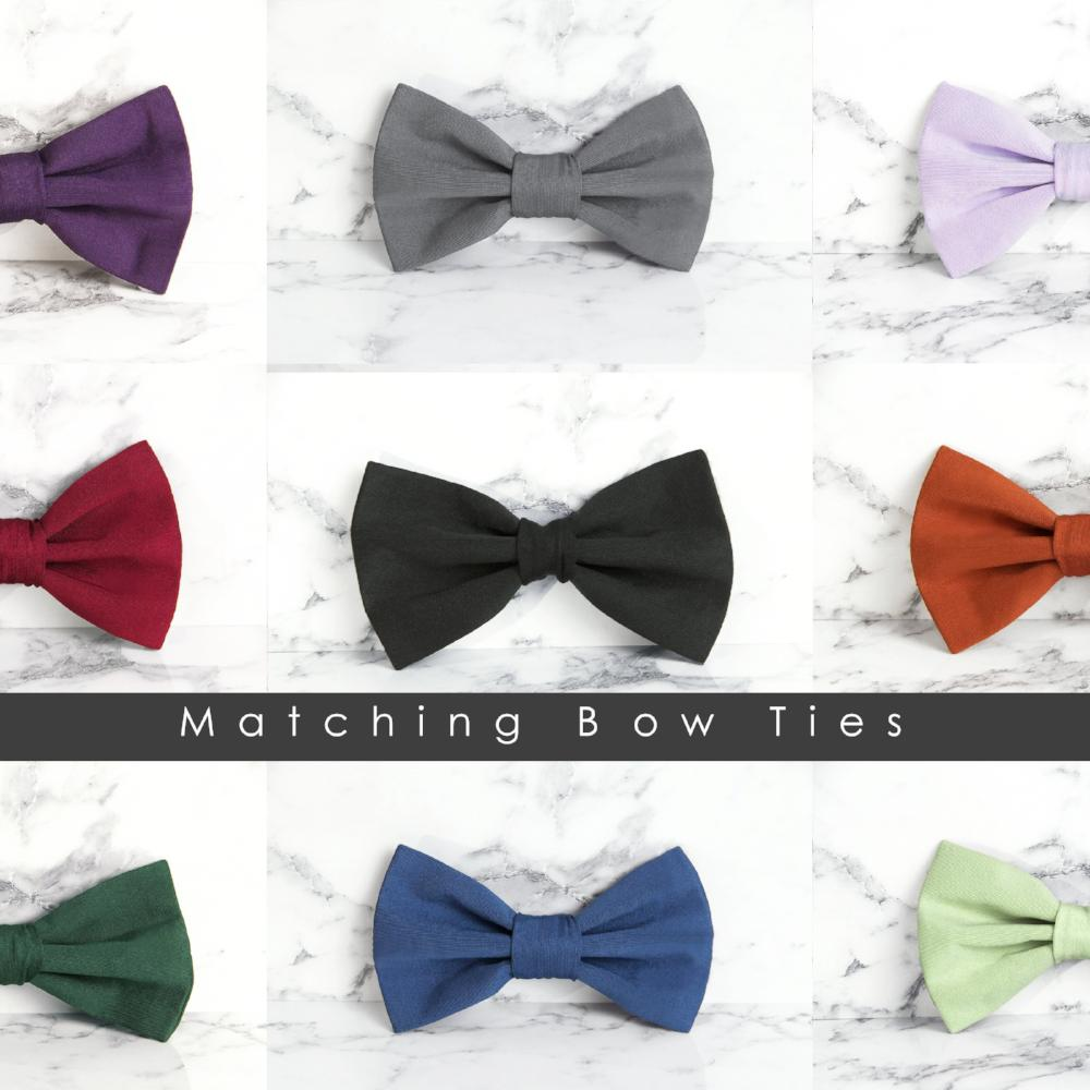 TDY Matching Bow Tie in 40 Colours