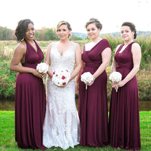 Load image into Gallery viewer, TDY Burgundy Maxi Infinity Dress