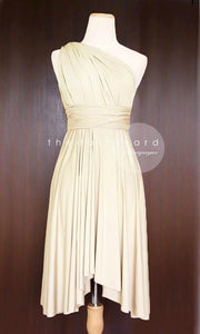 TDY Champagne Short Infinity Dress