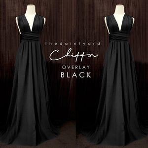 TDY Chiffon Overlay Skirt in Black
