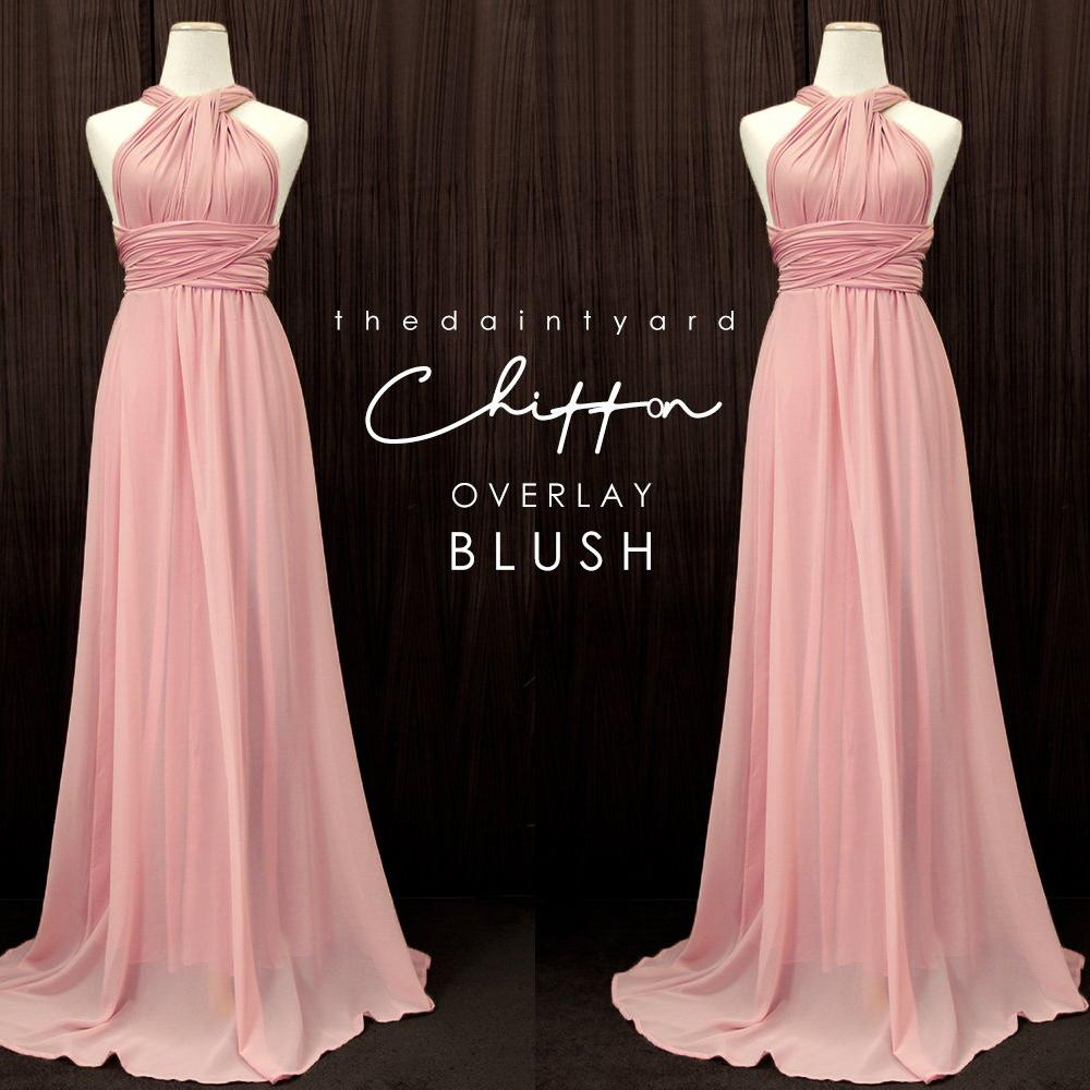 TDY Chiffon Overlay Skirt in Blush