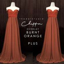 Load image into Gallery viewer, TDY Chiffon Overlay Skirt in Burnt Orange