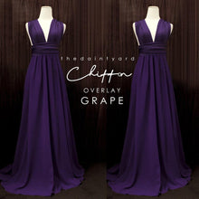 Load image into Gallery viewer, TDY Chiffon Overlay Skirt in Grape