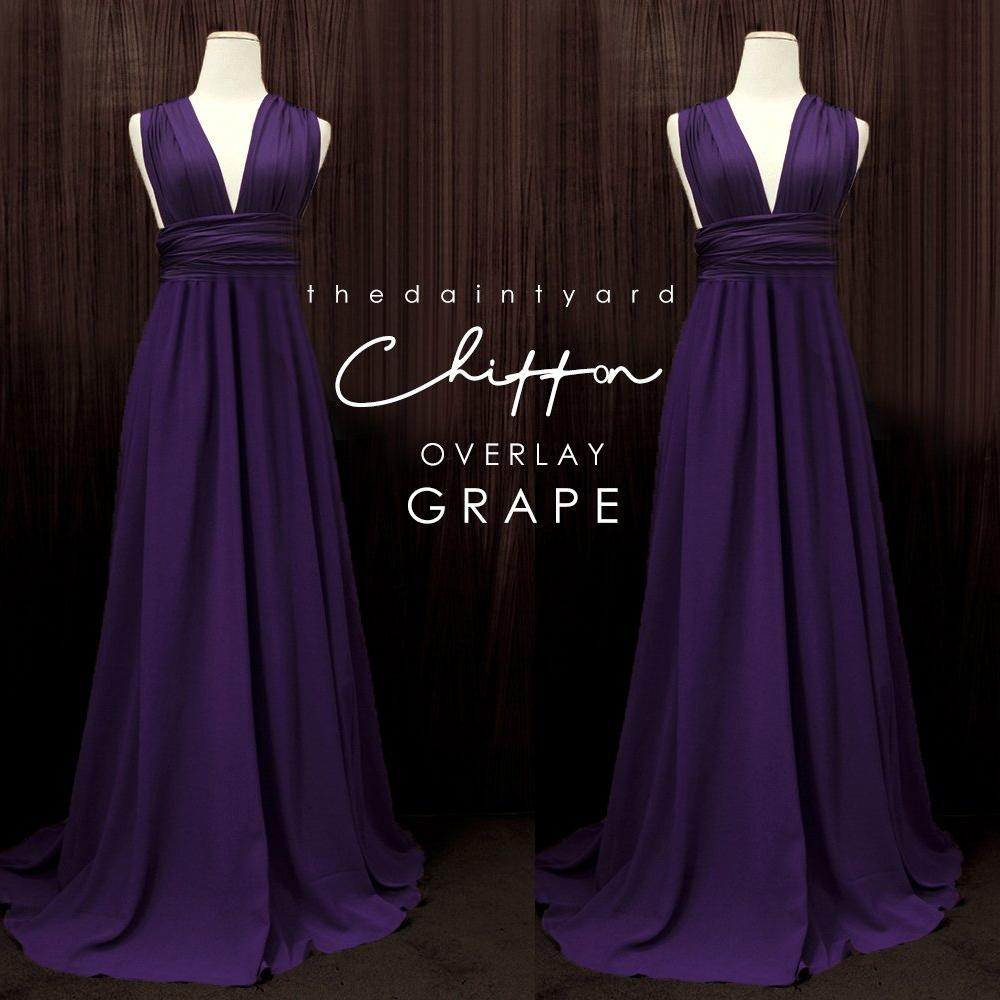 TDY Chiffon Overlay Skirt in Grape