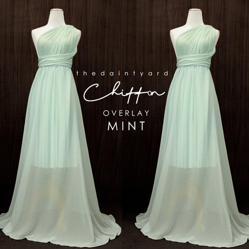 TDY Chiffon Overlay Skirt in Mint