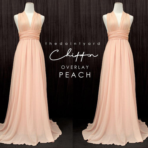 TDY Chiffon Overlay Skirt in Peach