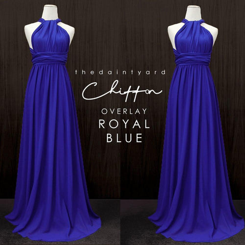 TDY Chiffon Overlay Skirt in Royal Blue
