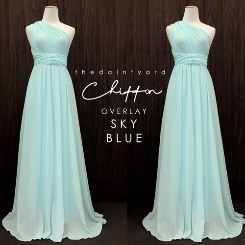 TDY Chiffon Overlay Skirt in Sky Blue