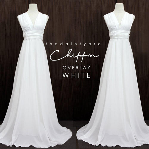 TDY Chiffon Overlay Skirt in White