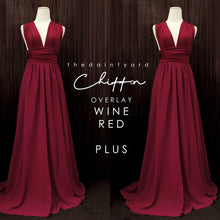 Load image into Gallery viewer, TDY Chiffon Overlay Skirt in Wine