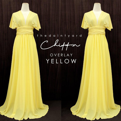 TDY Chiffon Overlay Skirt in Yellow