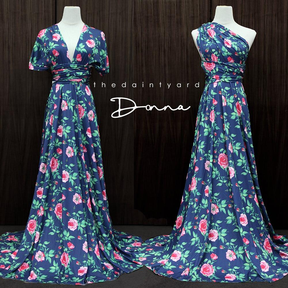 TDY Donna Floral Maxi Infinity Dress