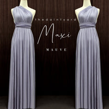 Load image into Gallery viewer, TDY Mauve Maxi Infinity Dress