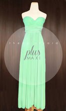 Load image into Gallery viewer, TDY Apple Green Maxi Infinity Dress