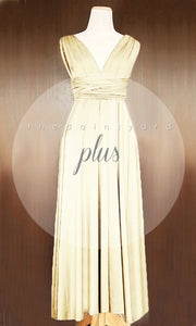 TDY Champagne Maxi Infinity Dress