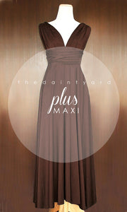 TDY Chocolate Maxi Infinity Dress