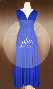 TDY Cobalt Blue Maxi Infinity Dress