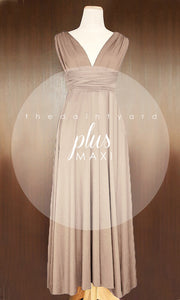 TDY Light Taupe Maxi Infinity Dress