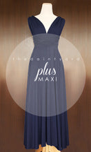 Load image into Gallery viewer, TDY Navy Maxi Infinity Dress