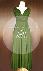 TDY Olive Green Maxi Infinity Dress