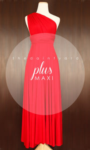 TDY Red Maxi Infinity Dress