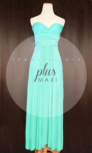 TDY Turquoise Maxi Infinity Dress