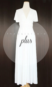 TDY White Maxi Infinity Dress