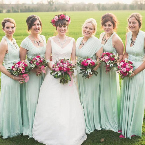 TDY Mint Green Maxi Infinity Dress
