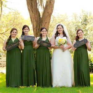 TDY Moss Green Maxi Infinity Dress