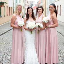 Load image into Gallery viewer, TDY Nude Pink Maxi Infinity Dress