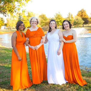 TDY Orange Maxi Infinity Dress
