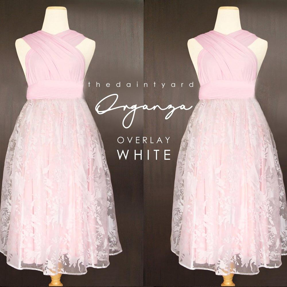 TDY Organza Overlay Skirt in White