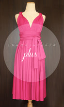 Load image into Gallery viewer, TDY Fuchsia Short Infinity Dress