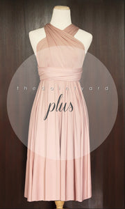 TDY Nude Pink Short Infinity Dress