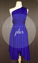 Load image into Gallery viewer, TDY Royal Blue Short Infinity Dress