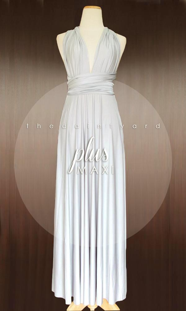 Sample Sale TDY Plus Silver Maxi Infinity Dress