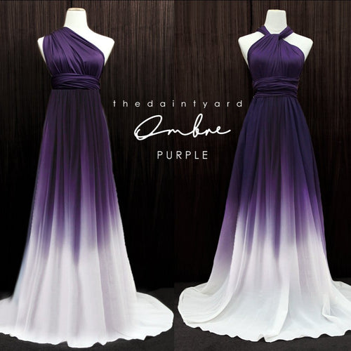 TDY Ombre Chiffon Overlay Skirt in Purple