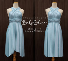 Load image into Gallery viewer, TDY Baby Blue Short Infinity Dress