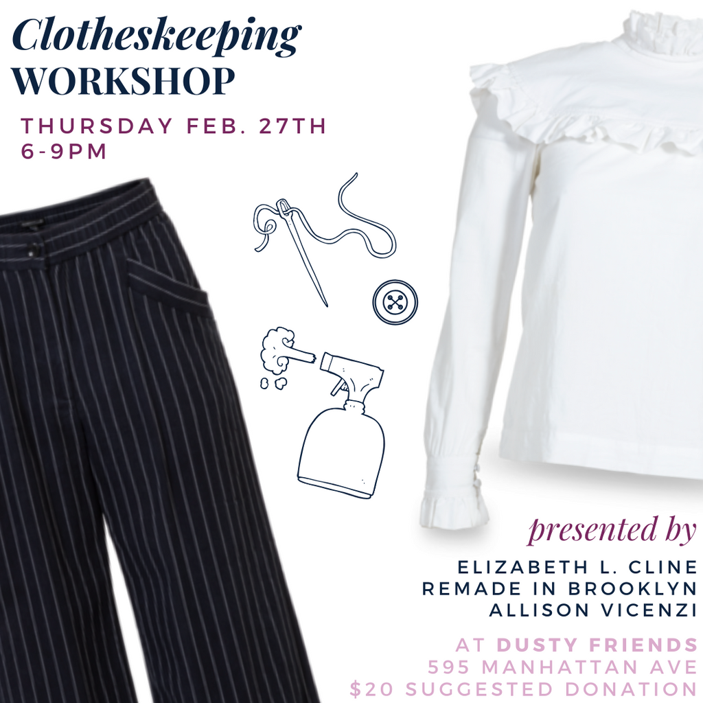Clotheskeeping Workshop in Brooklyn