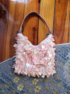 Girlie Iridescent Heart Bag