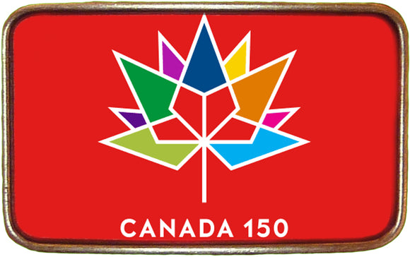 Canadian Flag Celebrate 150 Buckle