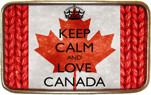 Canadian Flag Keep Calm Buckle